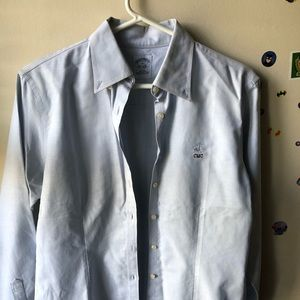 Brooke brother blue fitted shirt